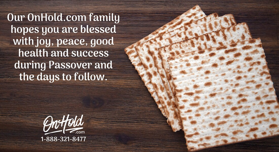 Passover Blessings from OnHold.com