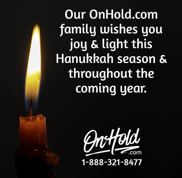 Happy Hanukkah from OnHold.com!