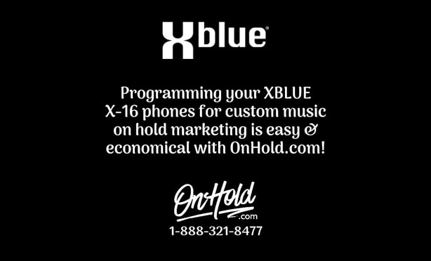 How to program your X-BLUE X-16 phones for custom music on hold marketing by OnHold.com